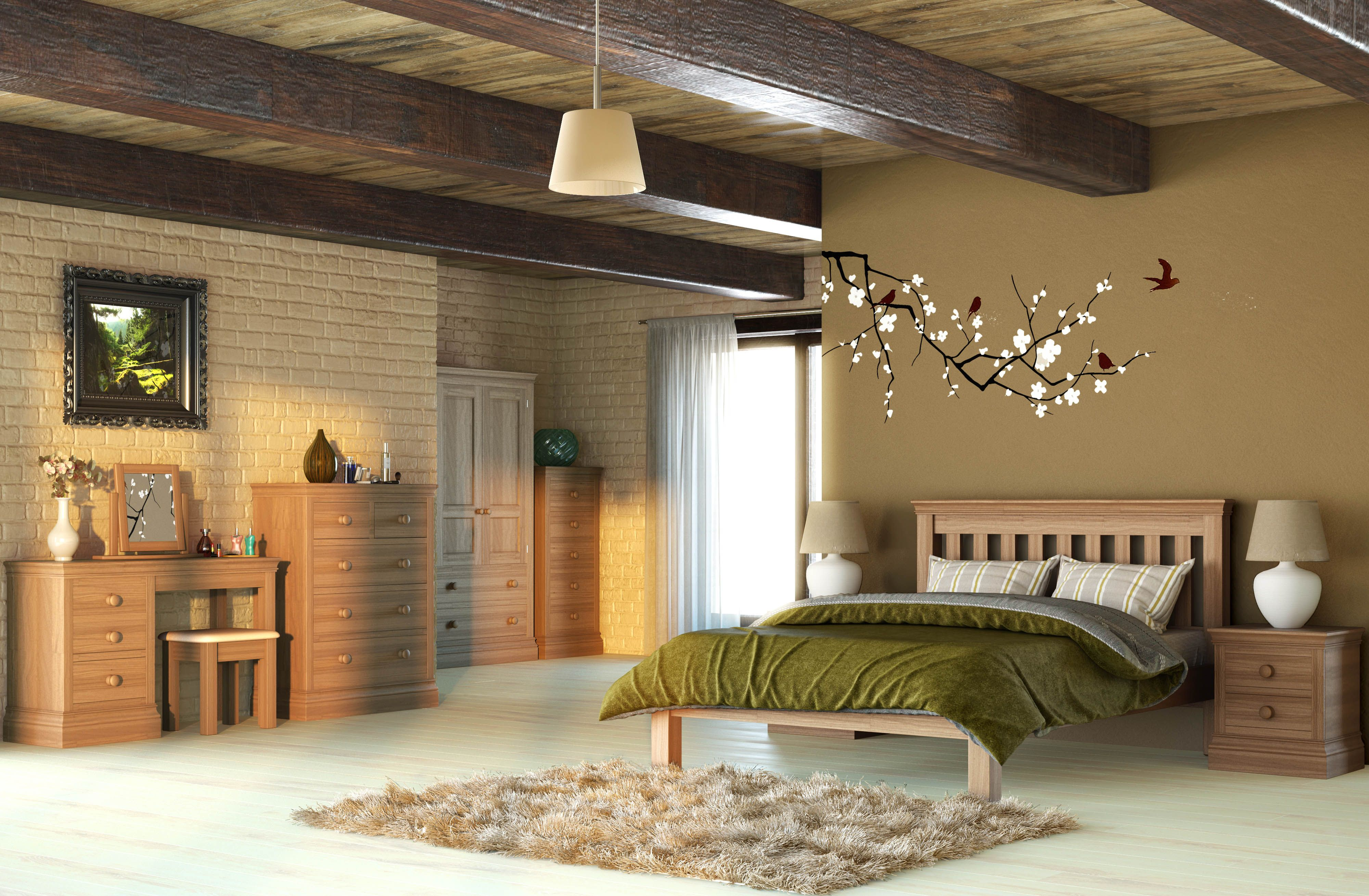 This is our new UK manufactured Oak bedroom collection