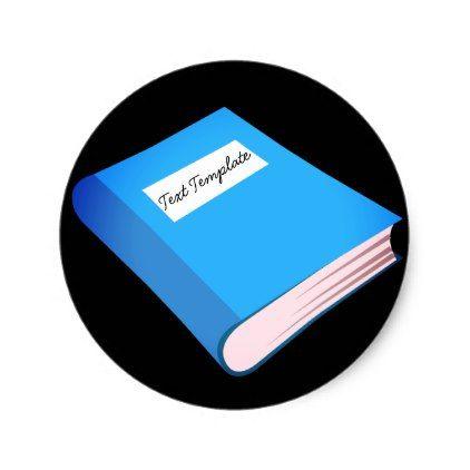 Custom Blue Book Emoji Classic Round Sticker Zazzle Com Blue Books Emoji Round Stickers