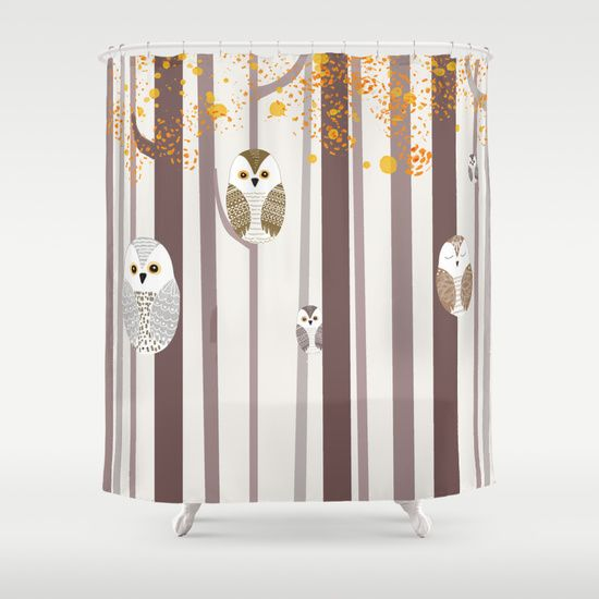 Brighten Up The Bathroom With This Owl Mazing Shower Curtain Twin Peaks