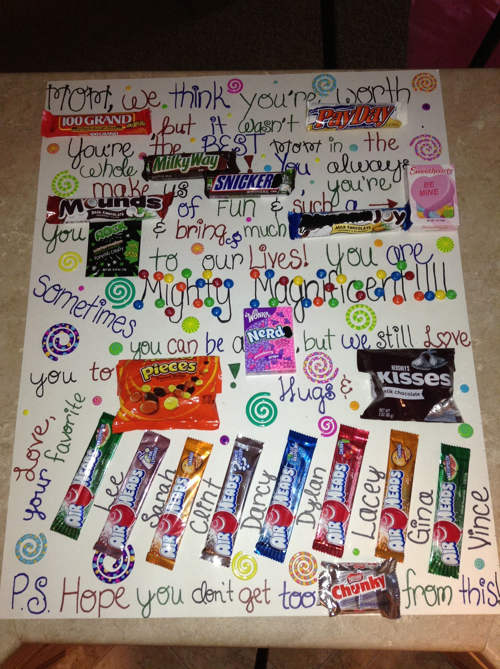 Candy Bar Card! Making This For My Mom For Mothers Day