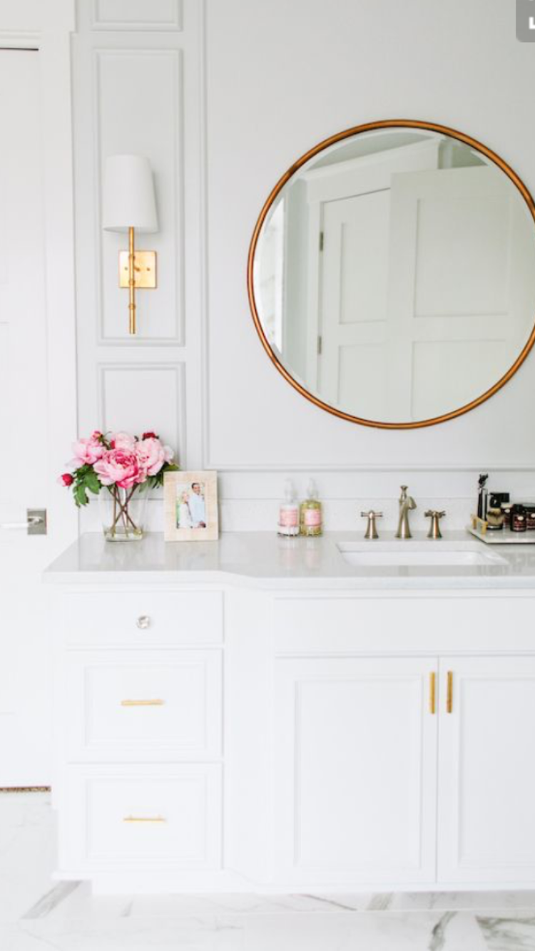 love love the paneling around the mirror and sconces next house rh pinterest com