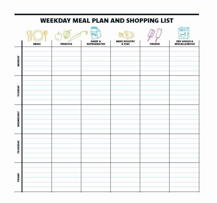 30 Meal Plan Template Printable In 2020 Meal Planning Template