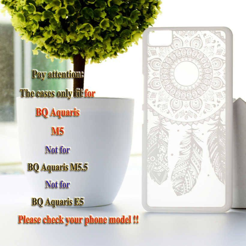 High Quality Luxury Dream Catcher Hard Case for BQ Aquaris M5 Mobile Phone Covers Plastic Clear Retro Fashion Case for BQ M5