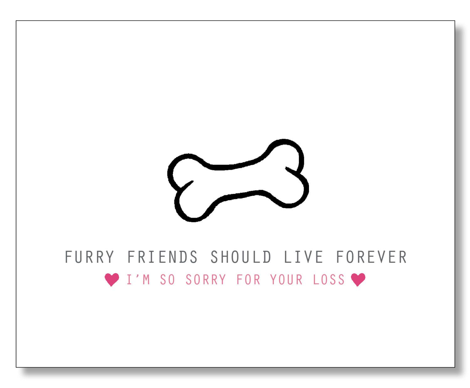 sympathy card for pet