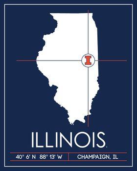 University of Illinois Map Wall Art Picture now at Illini ... on boston university map, depaul map, u of illinois school, ohio state map, purdue map, u of illinois logo, uiuc map, u of illinois seating chart, columbia university map, u of chicago illinois, florida state map, university of illinois champaign map,