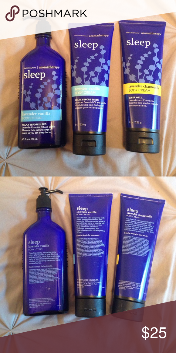 Set Of 3 Bath And Body Works Lotions All New Never Used Full Size