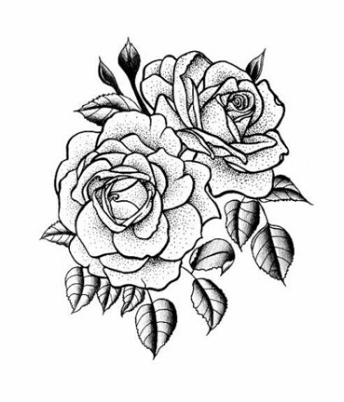 Floral Rose Tattoo Design Modelo Tatuagem Tatuagem Desenho De Rosa Tatuagens Da Moda