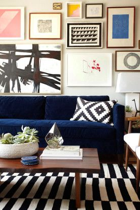 Dunham Sofa + Live Edge Coffee Table From West Elm