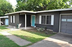 Mid Century Exterior Home Colors | ... Blue White House Modern Grey Paint  Exterior