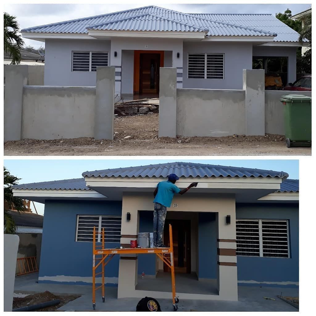 Project New Build House Painting Done By Excellent Painting Video Photo Excellent Painting Contact Info Fresh House Building A House House Painting
