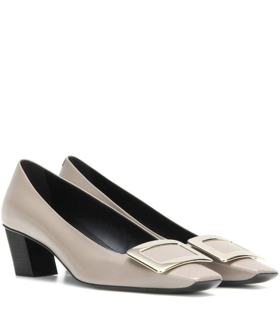 Shopping · ROGER VIVIER Décolleté Belle Vivier Leather Pumps. #rogervivier # shoes #pumps