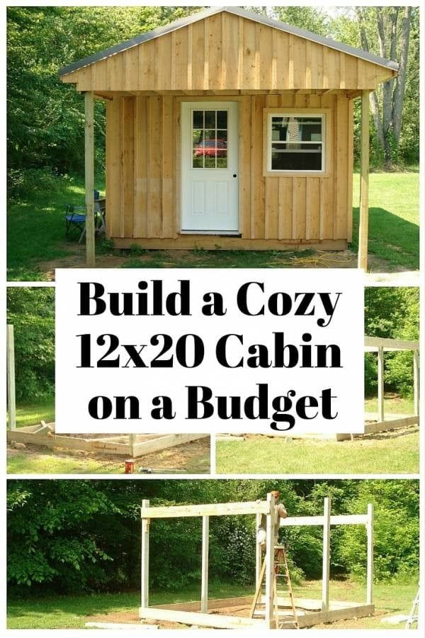 How To Build A 12 X 20 Cabin On A Budget Guest House Shed Guest House Small Building A Cabin