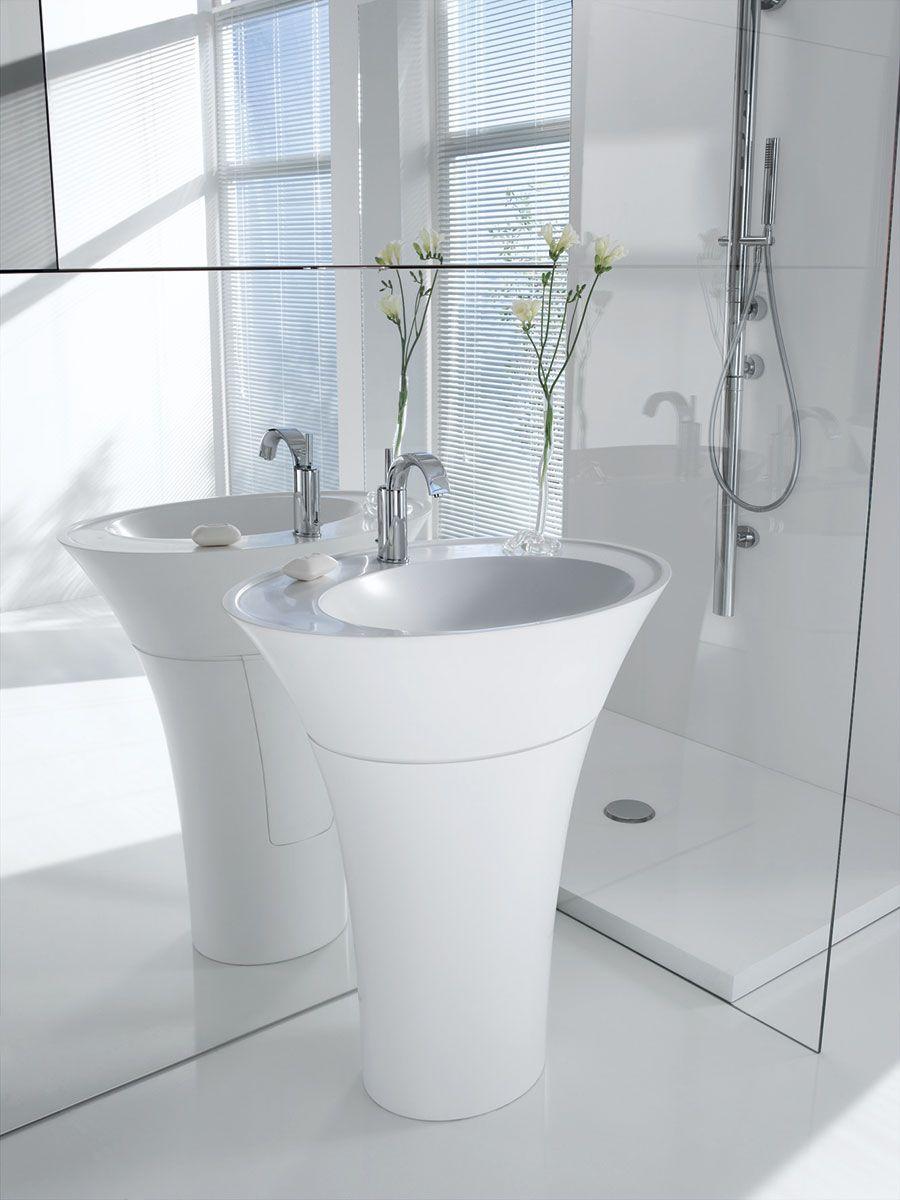couleur argent InArt Lavabo de salle de bain d/ésigner Vasque /à Poser en C/éramique vasque /à poser salle de bain toilette lave main lavabo forme de rectangle 460 X 360 X 135 MM