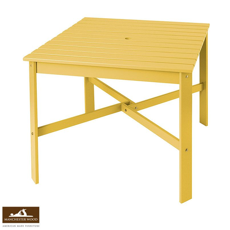 Need a place to eat, drink, and gather around in your Adirondack Chairs? Our stylish and sturdy Club Adirondack Dining Table – made to fit the Club Adirondack Chair is as authentic as it gets, made in the Adirondack region of New York from solid maple hardwood with a tough durable finish. Shop: http://www.manchesterwood.com/club-adirondack-dining-table.html #MadeinUSA #Outdoor #Furniture #Home #Spring #Dining