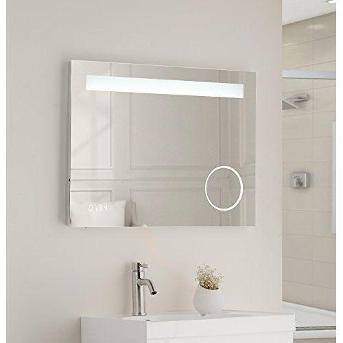 vanity art led lighted vanity bathroom mirror with white on custom bathroom vanity mirrors id=52451