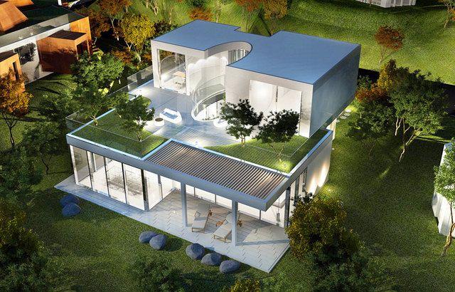 Casa de dise o the oval en la isla de jeju corea del sur for Casa moderna corea