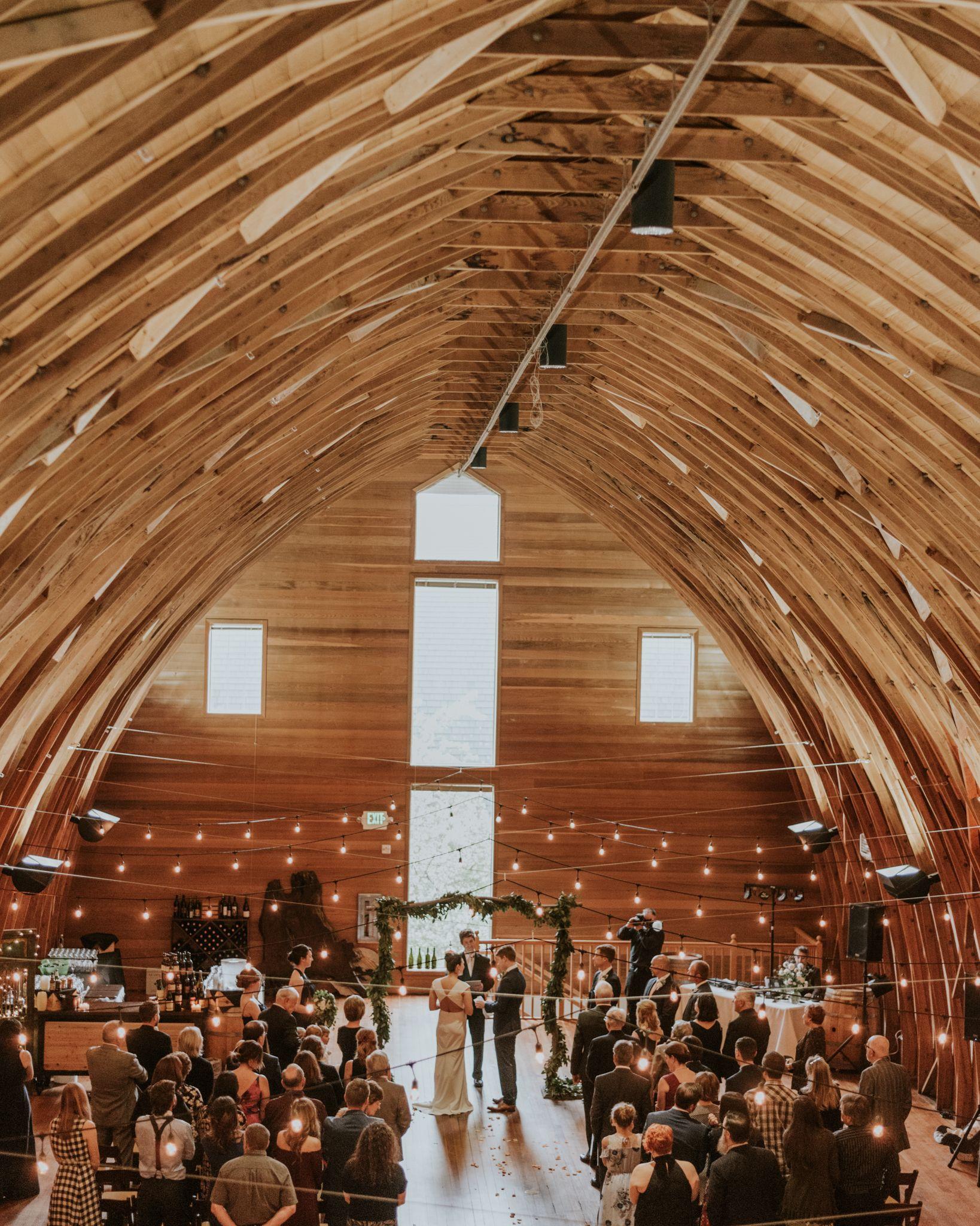 Indoor wedding venue near Seattle, Washington. Photo by