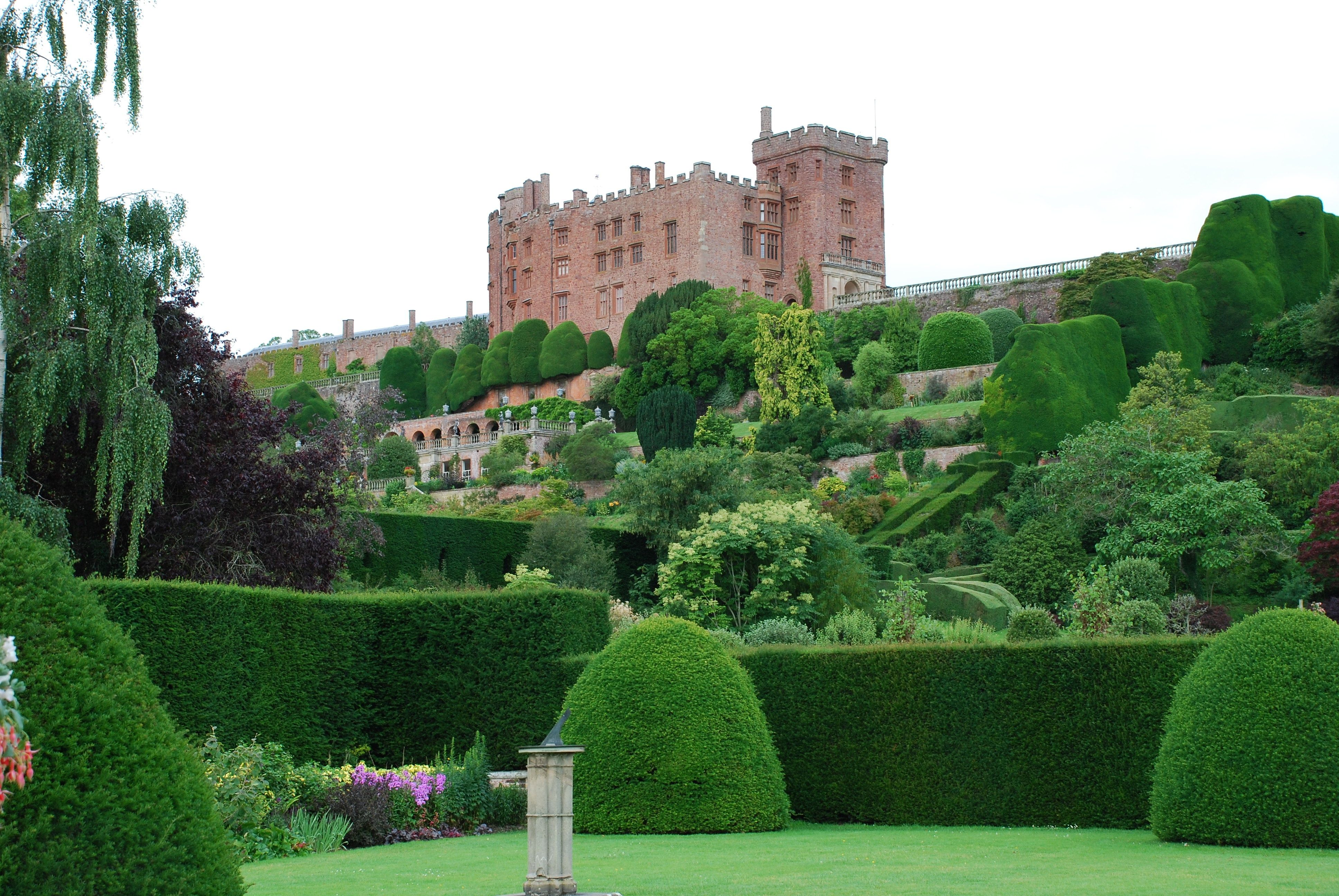 The terraced gardens at Powis castle
