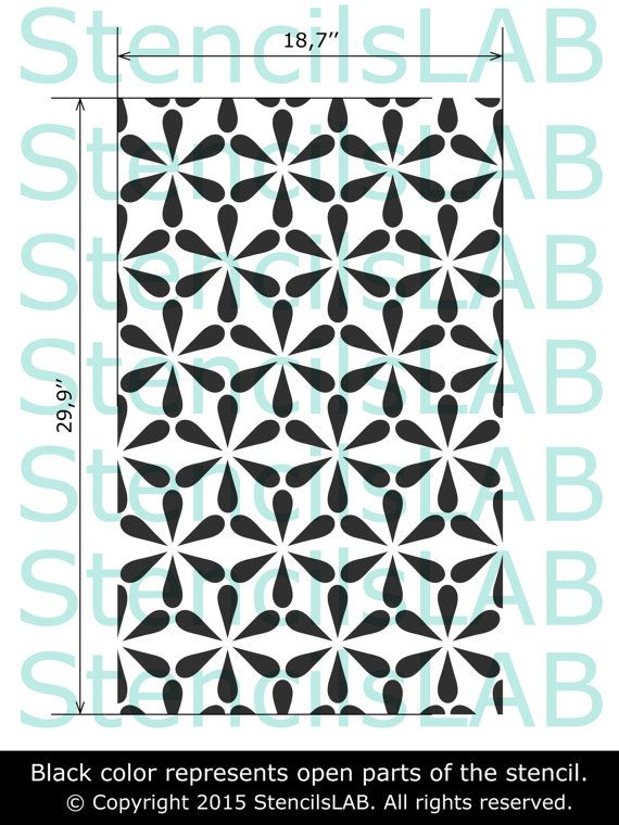 pattern wall stencil decorative pattern allover wall stencils pinterest schablone w nde. Black Bedroom Furniture Sets. Home Design Ideas