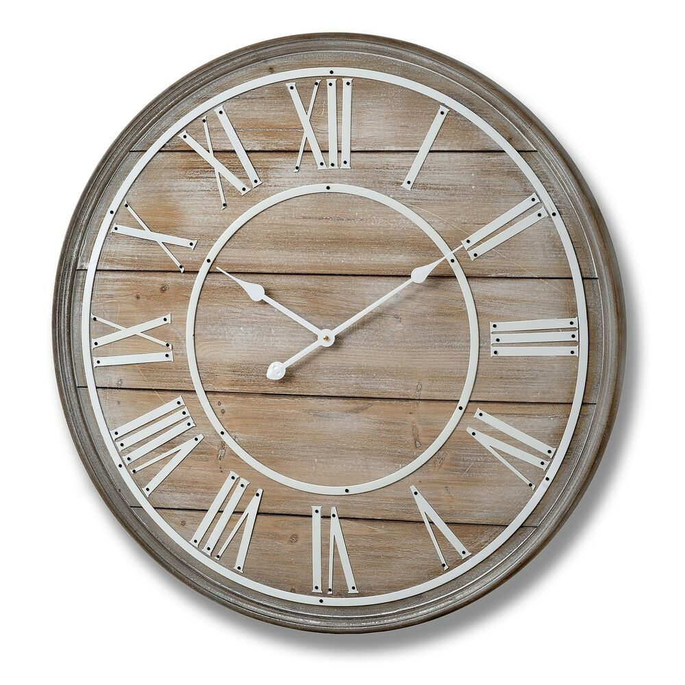 Hill Interiors Large Wooden Wall Clock Hi2378 Fashion Home Garden Homedcor Clocks Ebay Link Large Wooden Wall Clock Large Wall Clock Wall Clock