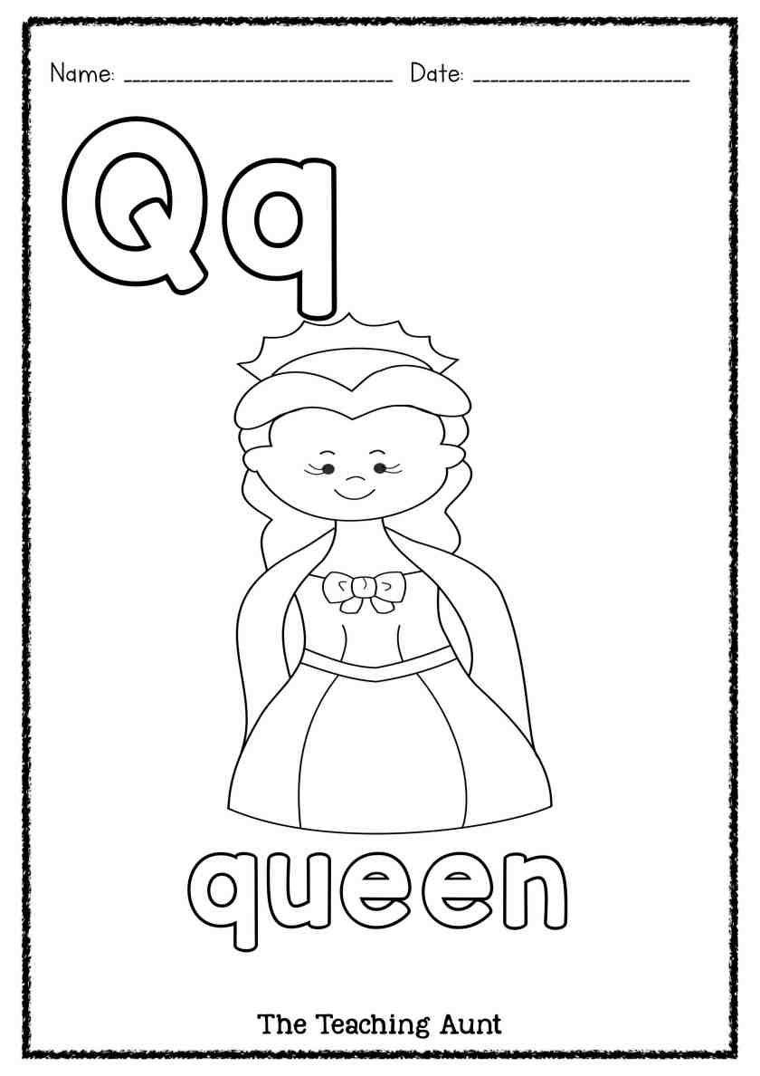 Q Is For Queen Art And Craft The Teaching Aunt Queen Art Kindergarten Worksheets Alphabet Activities Preschool [ 1188 x 840 Pixel ]