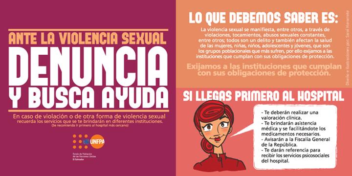 Ante la #ViolenciaSexual denuncia y busca ayuda @UNFPA_lac