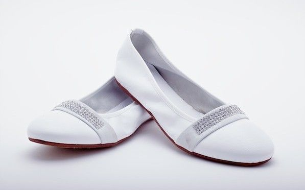 Hassan Scarpe Sposa.Ballerine Bianche Eleganti Hassan Bianco Elegante Scarpe
