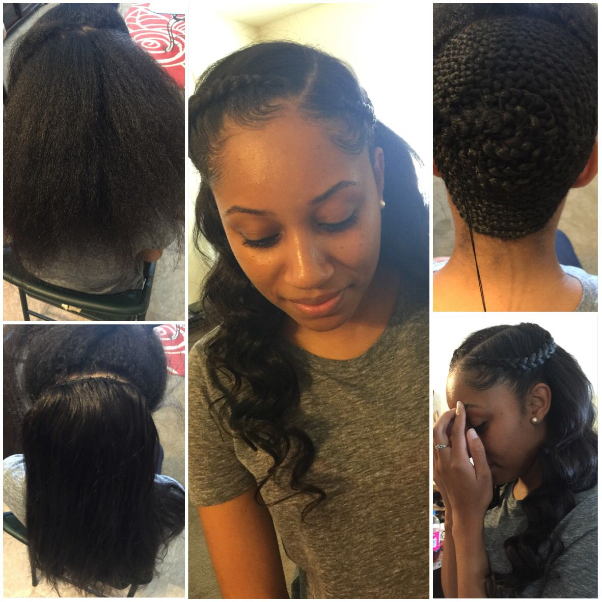 partial sew-in … | homecoming hairstyles | Pinterest | Hair style ...