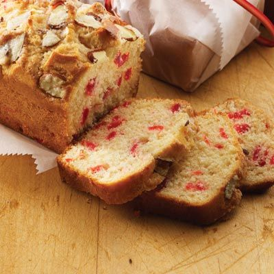Cherry and almond loaf cake recipe