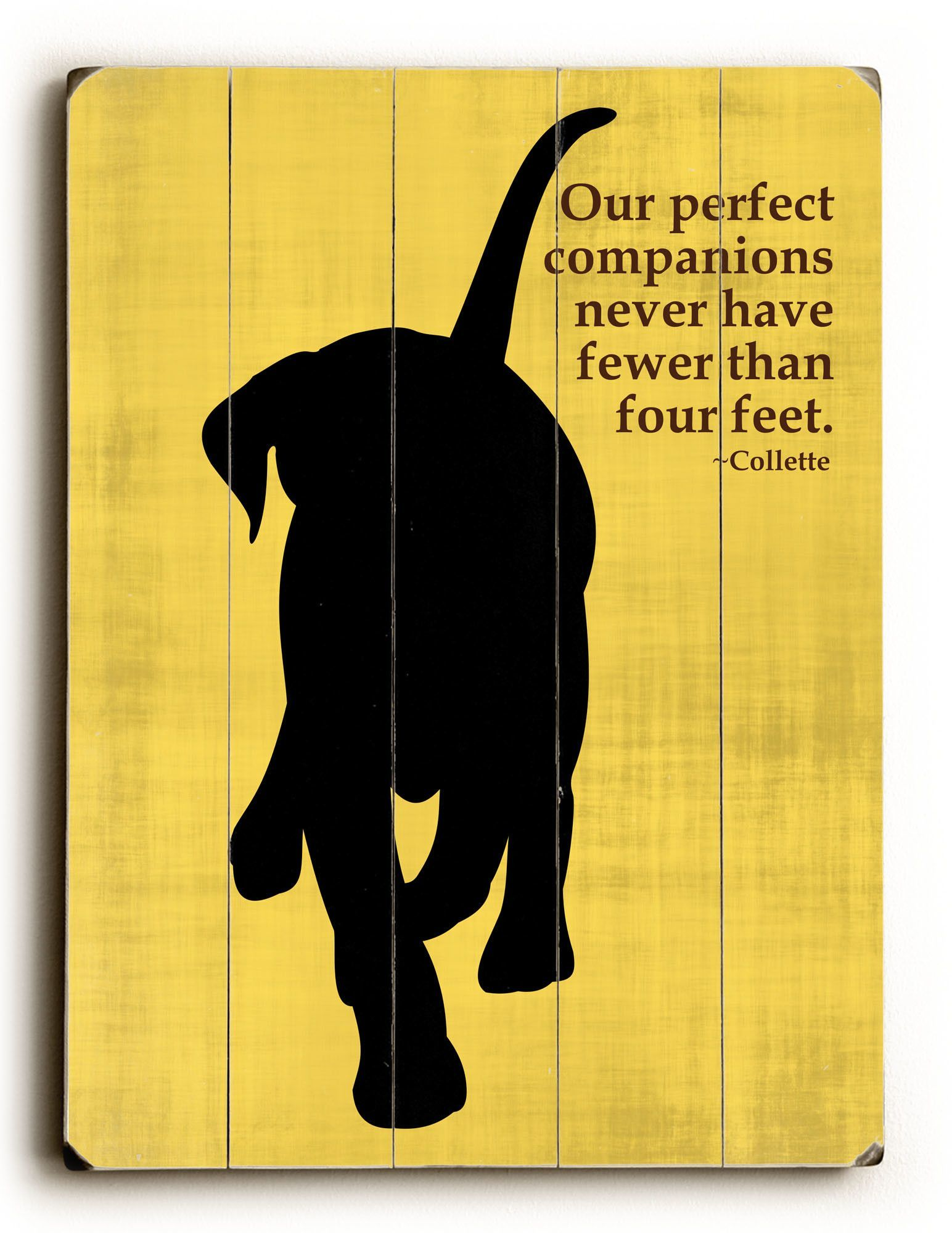 Woodville Graphic Art Plaque Happy paw, Cool pets, Dog