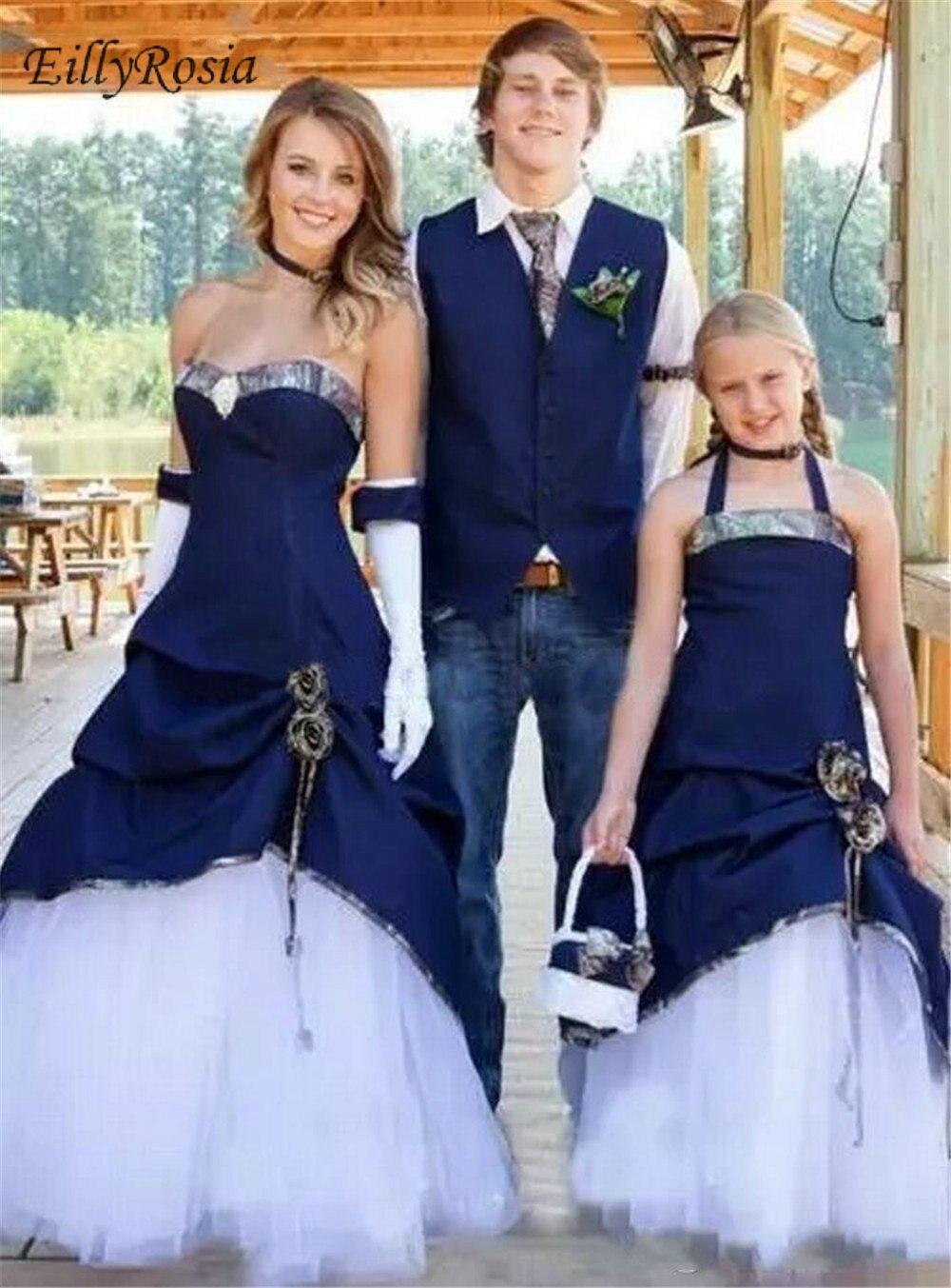 Unique Design Camo Wedding Dresses Navy Blue Satin White Tulle Trumpet Denim Wedding Dresses Camo Wedding Dresses Denim Wedding [ 1353 x 1000 Pixel ]