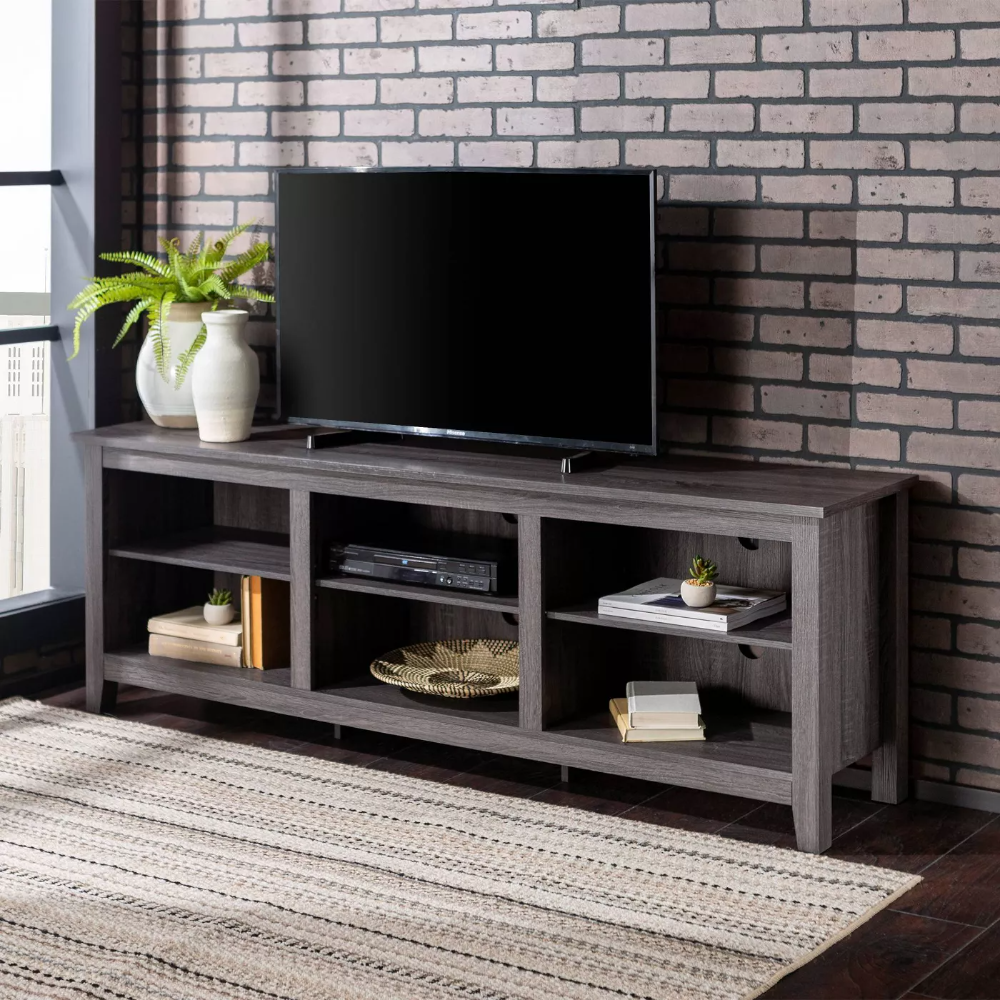 Wood Media Storage Console Tv Stand For Tvs Up To 80 Charcoal Saracina Home In 2020 Saracina Home Tv Stand With Storage Tv Stand Shop target for tv stands and entertainment centers in a variety of sizes, shapes and materials. pinterest