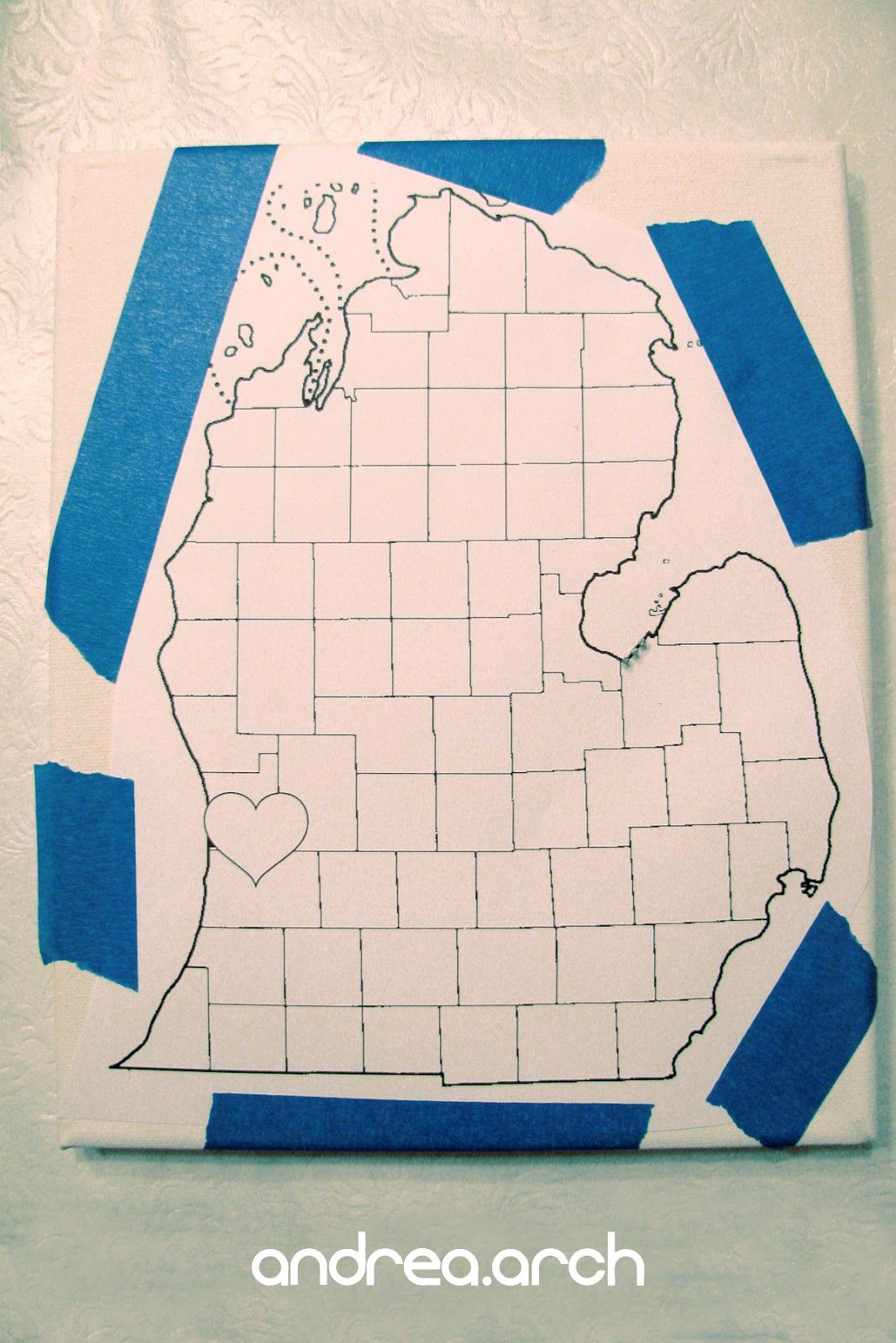 Depending on your canvas size i used 8x10 print out an outline o depending on your canvas size i used 8x10 print out an outline of your desired state i love my mitten and placed the heart over freerunsca Images