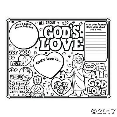 color your own all about gods love posters - God Is Love Coloring Page