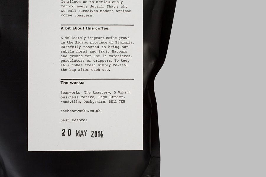 New Packaging For Beanworks By Paul Belford Ltd Bp O Coffee Label Packaging Design Inspiration Brand Identity Package
