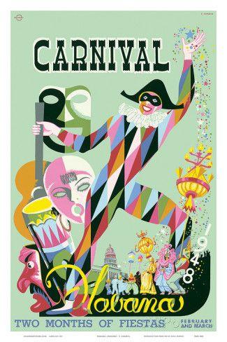Carnival Havana: Two Months of Fiestas - Cuba c.1948 Julisteet tekijänä E. Caravia AllPosters.fi-sivustossa