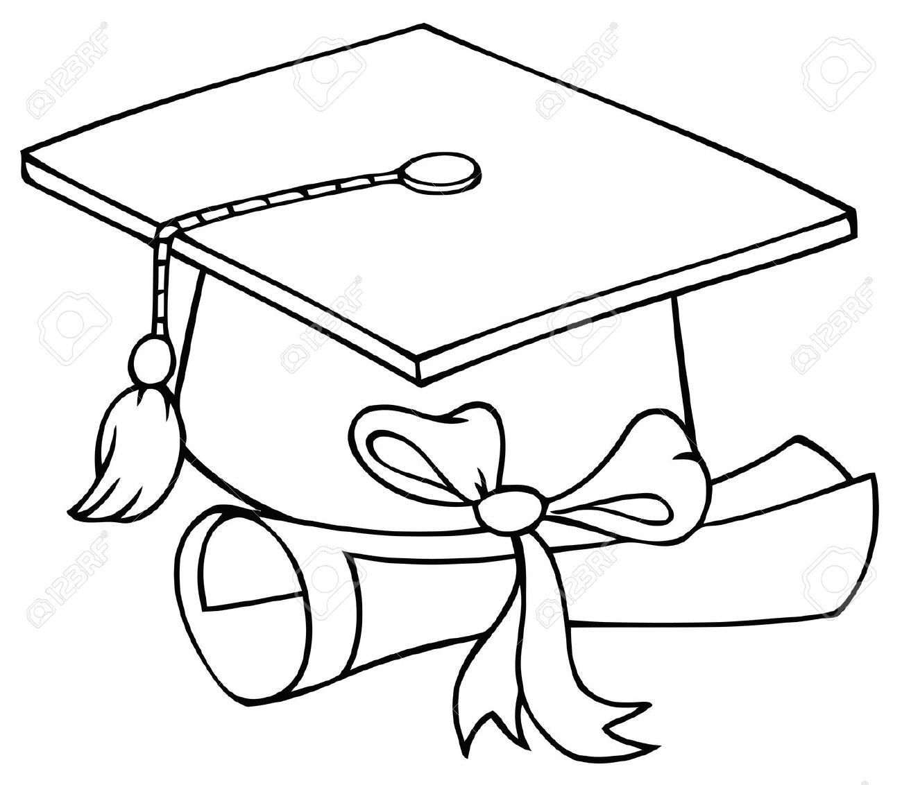 Dibujos Birrete Y Diploma De Graduación Buscar Con Google