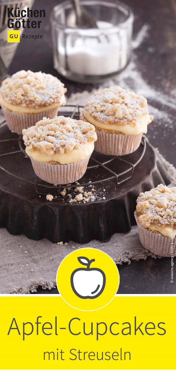 Apfel-Streusel-Cupcakes