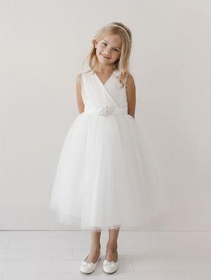 b06ad006 Next stop: Pinterest Ivory Flower Girl Dresses, Girls Dresses, Flower Girls,  Tulle