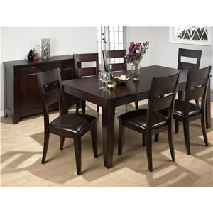 972 7 Piece Rustic Butterfly Leaf Dining Table Side Chair Set By