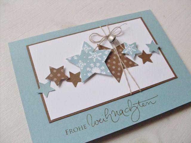 Weihnachtskarten Mit Sternen Basteln.Carolas Bastelstübchen Neue Weihnachtskarten Karten Homemade