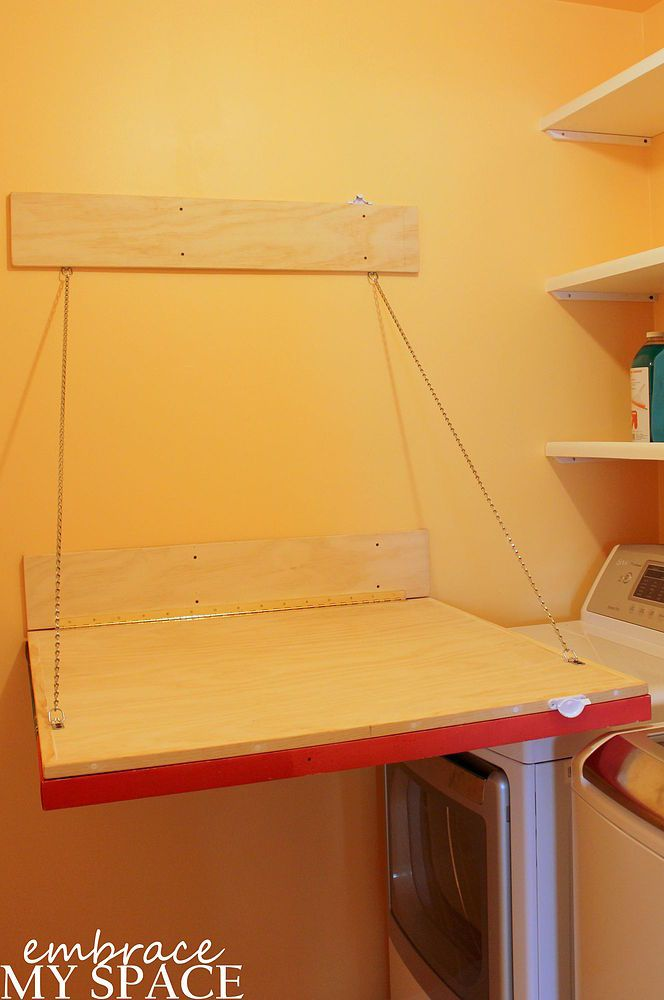 How To Build A Collapsible Laundry Room Folding Table Diy