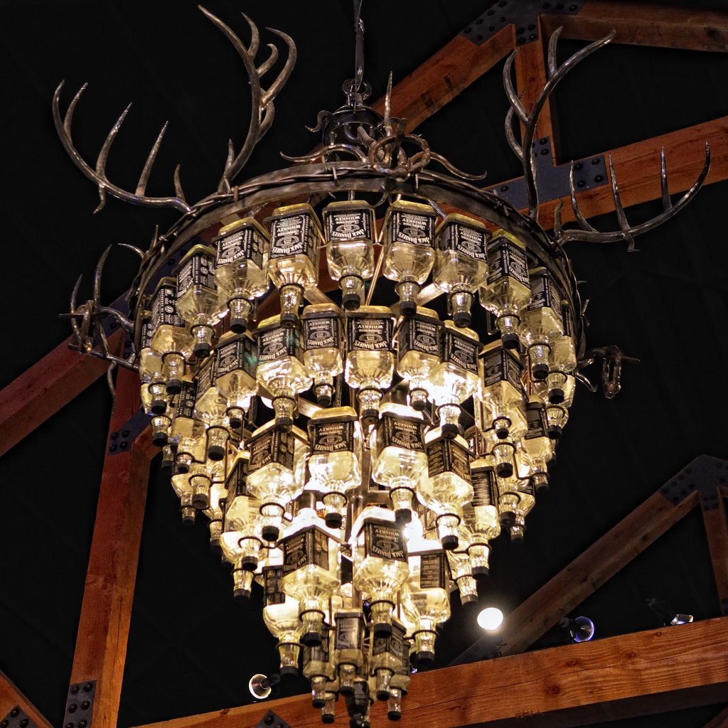 The jack daniels chandelier texas music chandeliers and hall the jack daniels chandelier this amazing piece of contempo flickr arubaitofo Gallery