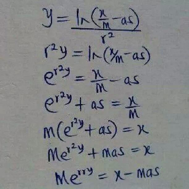 Merry xmass mathematical equation all funny christmass pix here merry xmass mathematical equation all funny christmass pix here jokes etc nairaland stopboris
