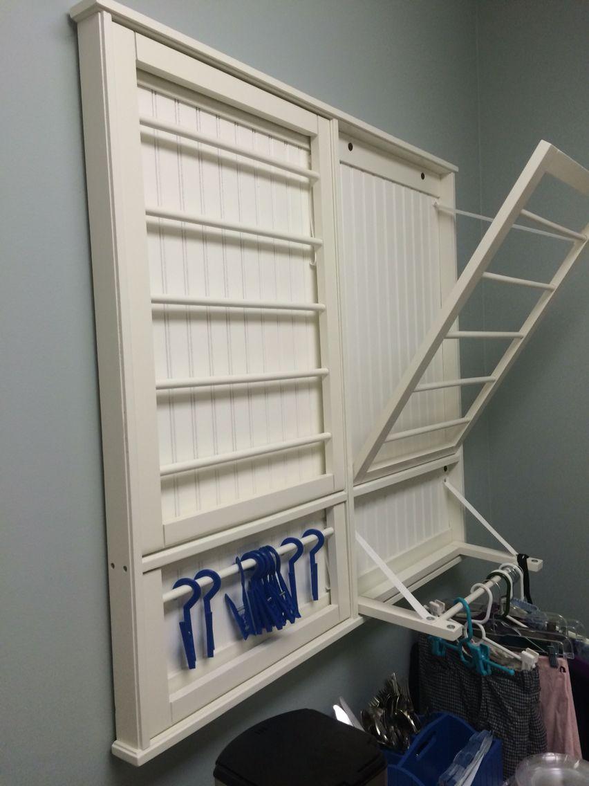 Laundry room hanging racks