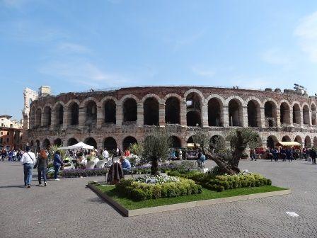 Flower Market in Piazza Bra