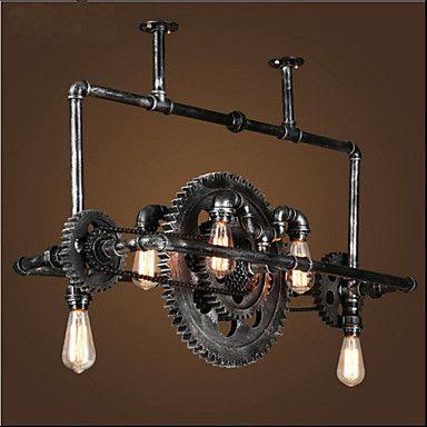 Le tuyau de fer lustre vent industriel engins suspendus lampe de