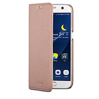 Caseza Samsung Galaxy S7 Kunstleder Flip Case Oslo Rose Gold Ultra Schlanke Pu Leder Hulle Ledertasche Lederhulle Fur Das Lederhulle Ledertasche Kunstleder