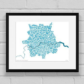London Postcodes Map In Blue