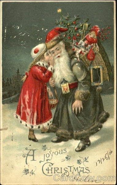 Carte ancienne de noel christmas scenes pinterest - Cartes de noel anciennes ...